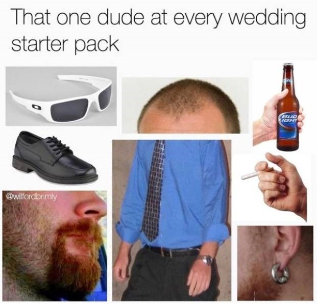Facial hair - That one dude at every wedding starter pack LIGHT @wilfordbrimly