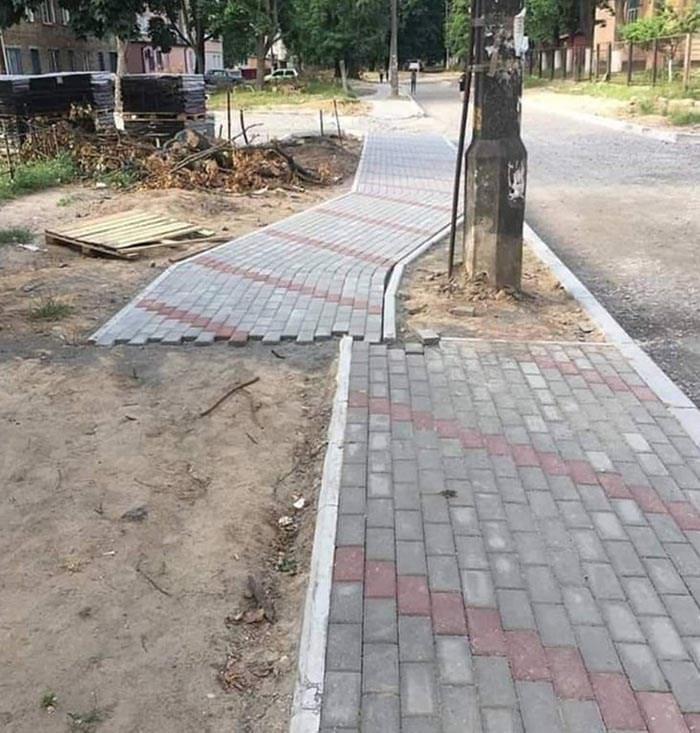 design fail - Sidewalk