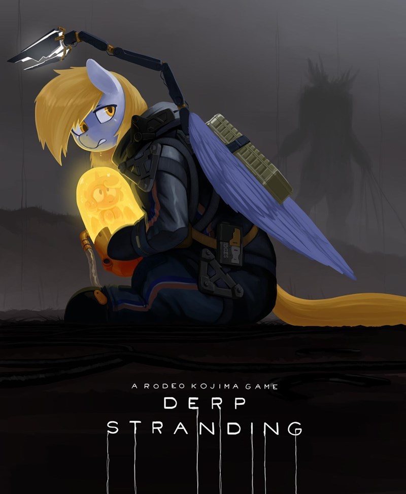 the miniscule task flurry heart derpy hooves death stranding ponify - 9339701504