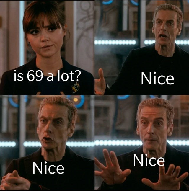 Facial expression - is 69 a lot? Nice Nice Nice