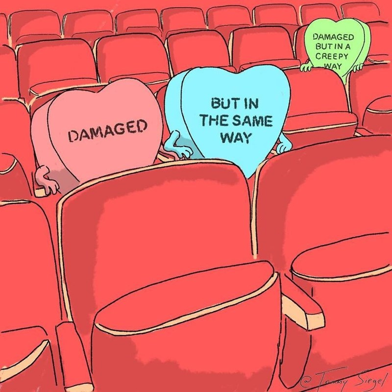 candy heart comic - Text - DAMAGED BUTIN A CREEPY WAY BUT IN THE SAME WAY DAMAGED Se!
