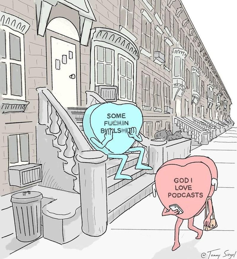 candy heart comic - Cartoon - SOME FUCHIN BYMLS GODI LOVE PODCASTS eTAmy Segol
