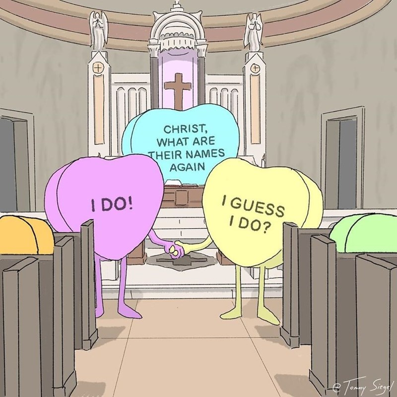 candy heart comic - Cartoon - CHRIST WHAT ARE THEIR NAMES AGAIN IGUESS I DO! I DO?