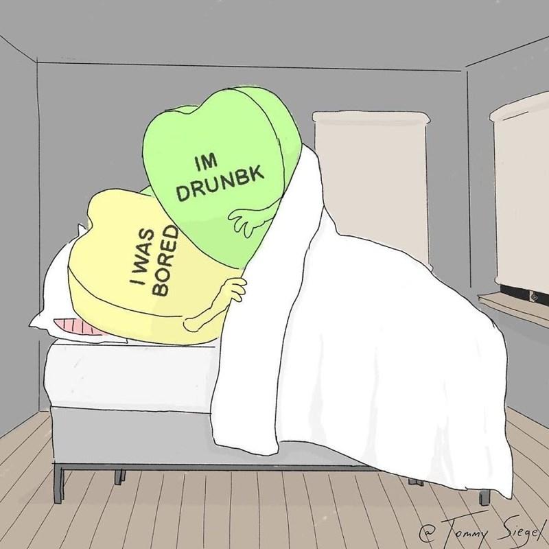 candy heart comic - Cartoon - IM DRUNBK I WAS BORED