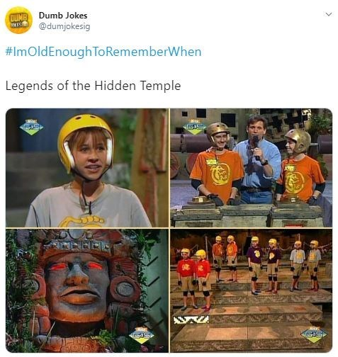Adaptation - QUNR Dumb Jokes r @dumjokesig #ImOldEnough ToRememberWhen Legends of the Hidden Temple S