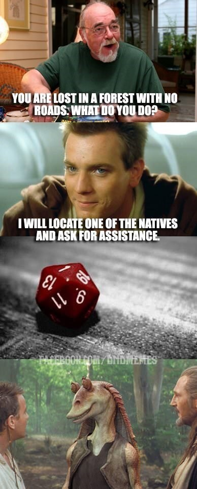 Dungeons & Dragons - Games - YOU ARE LOST INA FOREST WITH NO ROADS WHAT DO YOU DO? WILL LOCATE ONE OF THE NATIVES AND ASK FOR ASSISTANCE 911 TACEROOR.COM/ HIDNENES