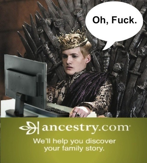 Poster - Oh, Fuck ancestry.com We'll help you discover your family story.