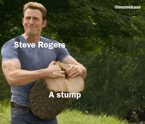 Arm - @memebase Steve Rogers A stump