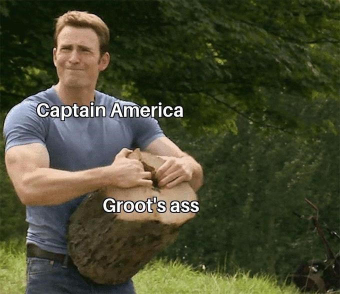 Arm - Captain America Groot's ass