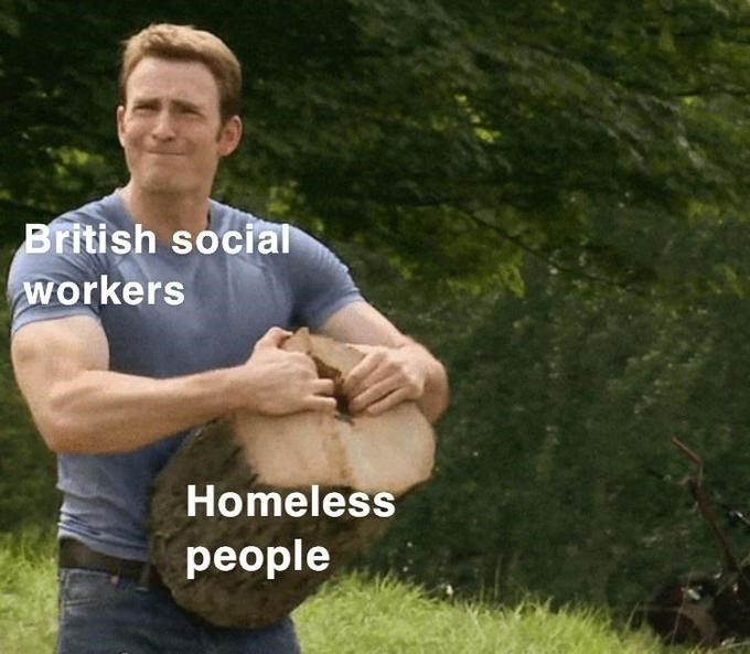 Arm - British social workers Homeless people
