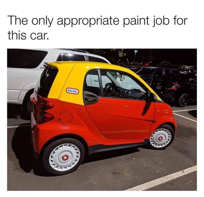 Land vehicle - The only appropriate paint job for this car. etle tikes