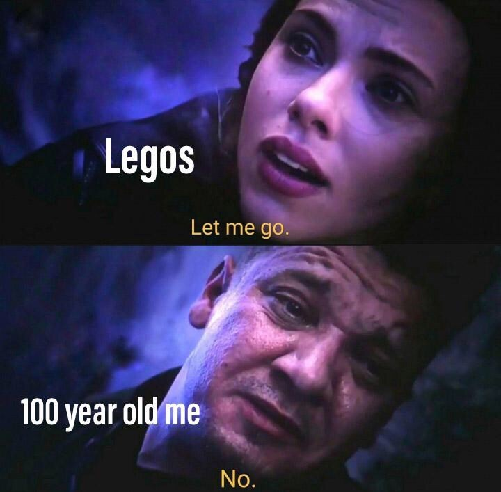 Text - Legos Let me go. 100 year old me No.