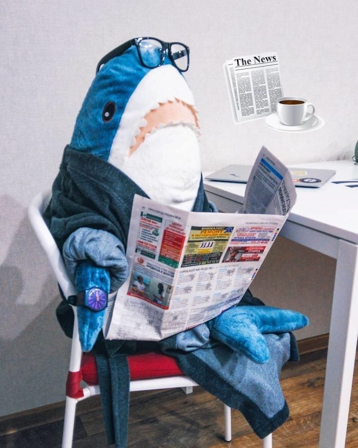 ikea shark - Blue - The News aomco