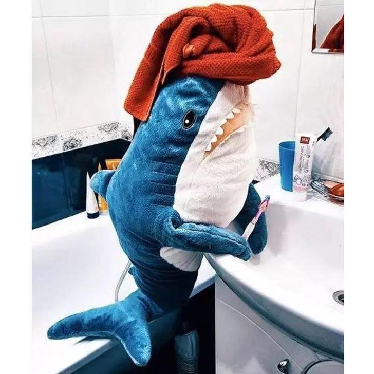 ikea shark - Blue