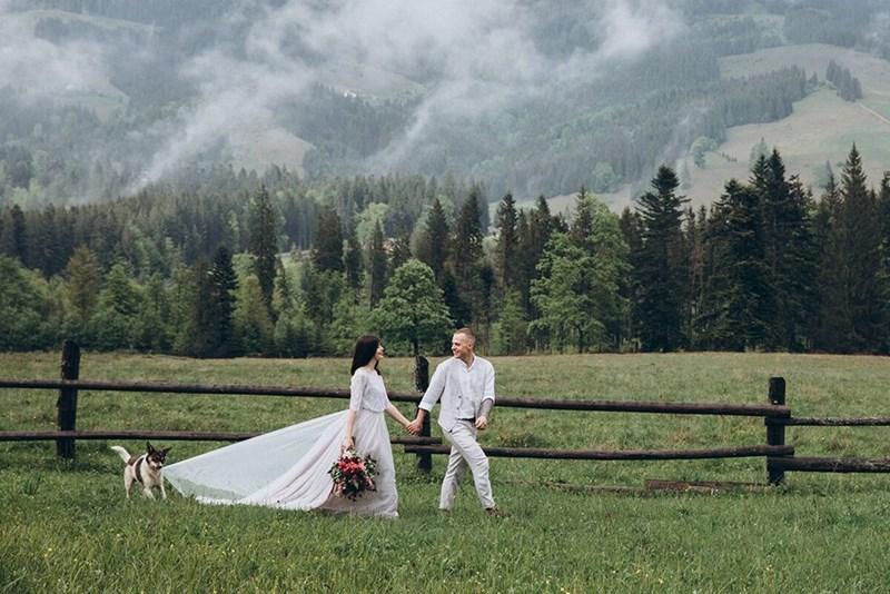 wedding dog - Grassland