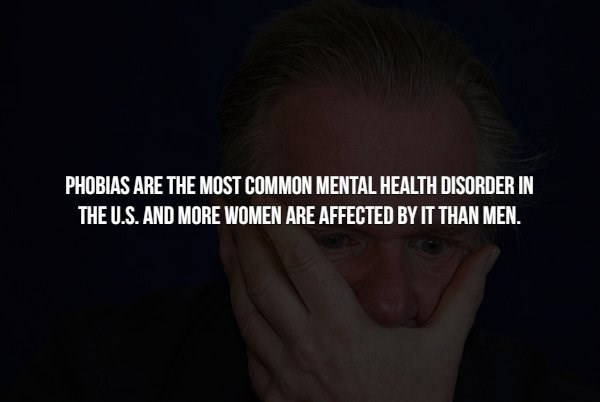 phobia - Face - PHOBIAS ARE THE MOST COMMON MENTAL HEALTH DISORDER IN THE U.S. AND MORE WOMEN ARE AFFECTED BY IT THAN MEN.