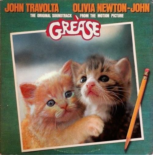 kitten covers - Cat - OLIVIA NEWTON-JOHN JOHN TRAVOLTA THE ORIGINAL SOUNDTRACK FROM THE MOTION PICTURE GREASE