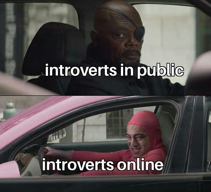 meme - Vehicle door - introverts in public introverts online