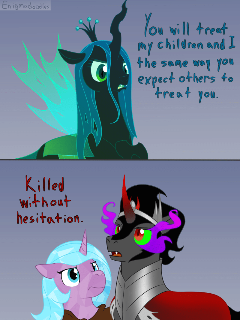 king sombra chrysalis changelings - 9341661440