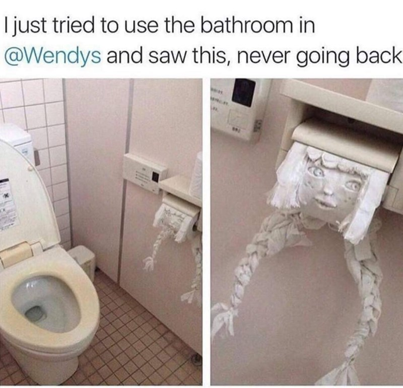 cursed images - Toilet - I just tried to use the bathroom in @Wendys and saw this, never going back