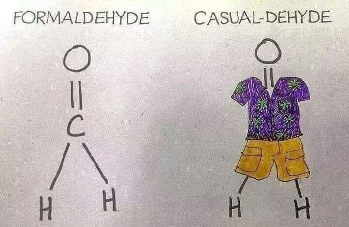 "Meme - ""FORMALDEHYDE; CASUAL-DEHYDE"""