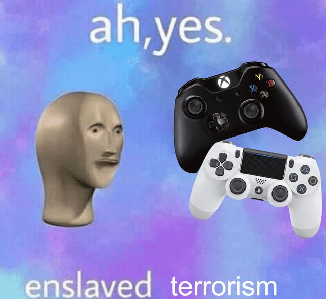 video game violence - Home game console accessory - ah.yes Y A enslaved terrorism