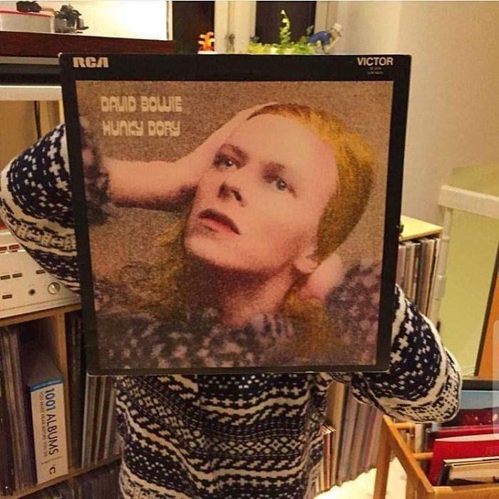 optical illusion - Hair - RCA VICTOR DAVID BOLWIE HUNCY DORY 100 ALBUMS