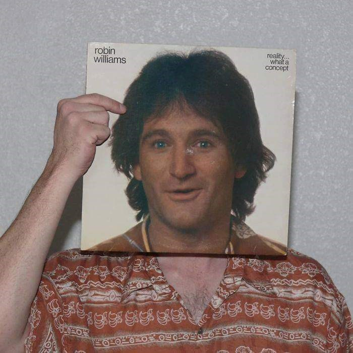 optical illusion - Face - robin williams reality... what a concept