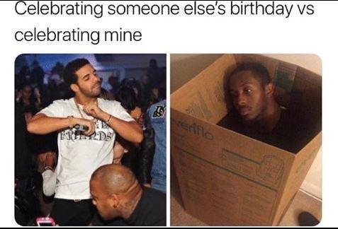 Product - Celebrating someone else's birthday vs celebrating mine erfflo ERIEADS