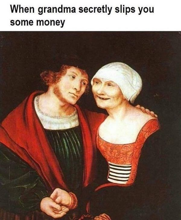Art - When grandma secretly slips you some money