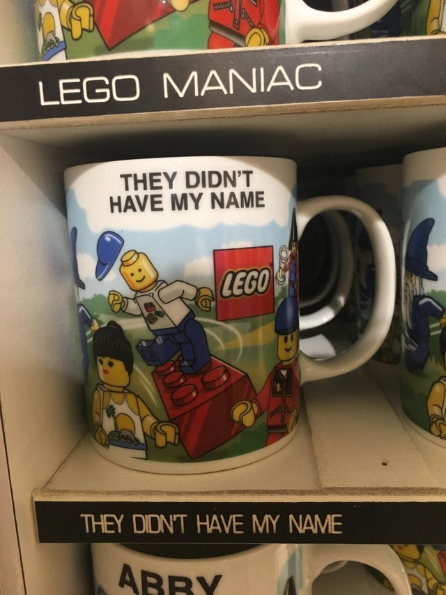 Mug - Www LEGO MANIAC THEY DIDN'T HAVE MY NAME LEGO THEY DIDN'T HAVE MY NAME ABRY
