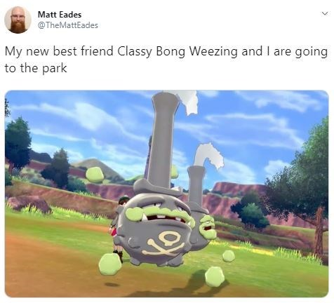 Cartoon - Matt Eades @TheMattEades My new best friend Classy Bong Weezing and I are going to the park
