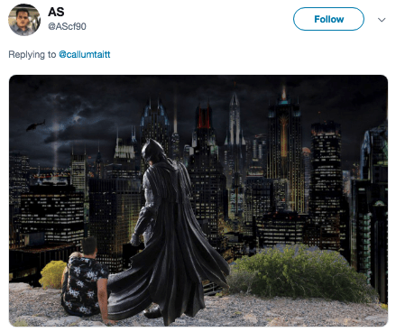 photoshop trolling - Batman - AS Follow @AScf90 Replying to @callumtaitt