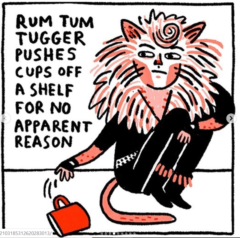 cats movie - Cartoon - RUM TUM TUGGER PUSHES CUPS OFF A SHELF FOR NO APPARENT REASON 2103185312620283013/
