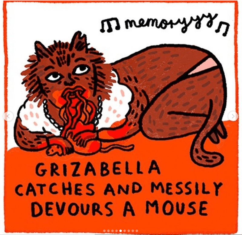 cats movie - Cartoon - memonyn GRIZABELLA CATCHES AND MESSILY DEVOURS A MOUSE