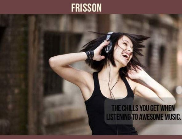Audio equipment - FRISSON THE CHILLS YOU GETWHEN LISTENING TO AWESOME MUSIC.