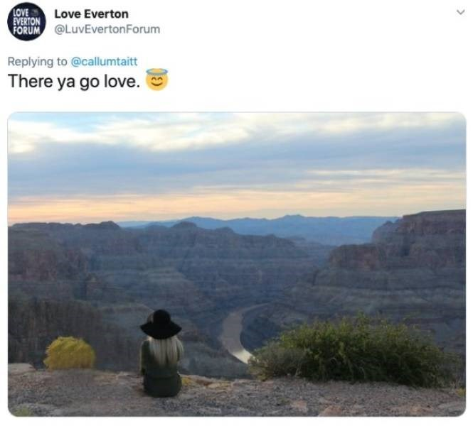 ex photoshop - Natural landscape - EVERTON Love Everton FORUM@LuvEvertonForum LOVE Replying to @callumtaitt There ya go love.