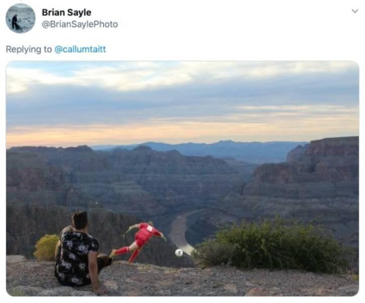 ex photoshop - Mountainous landforms - Brian Sayle @BrianSaylePhoto Replying to @callumtaitt