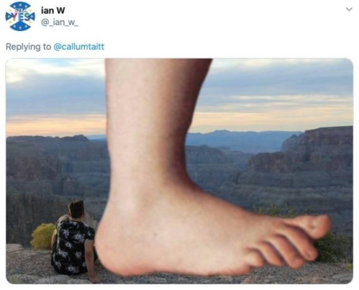 ex photoshop - Leg - ian W DYES@ian w Replying to @callumtaitt