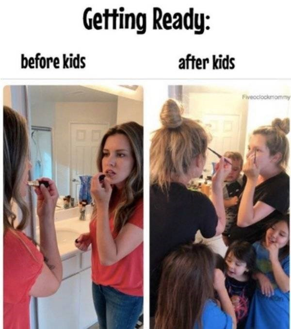 Hair - Getting Ready: before kids after kids Fiveoclockmommy