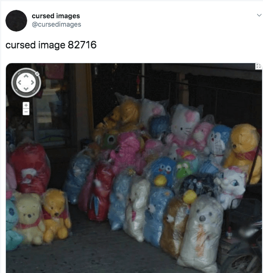 scary cursed image - Teddy bear - cursed images @cursedimages cursed image 82716