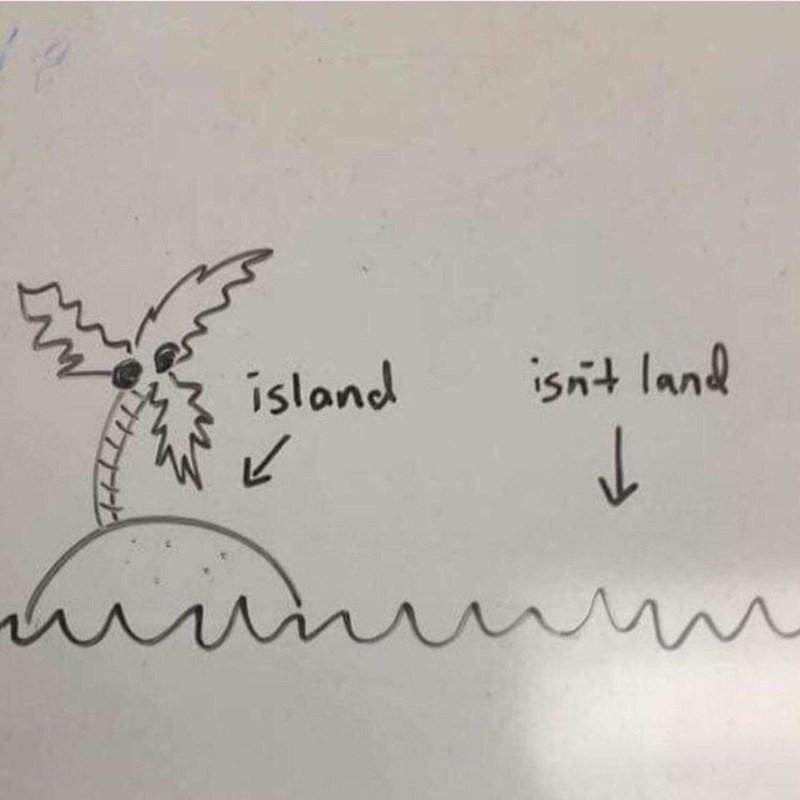 Text - island isnt land