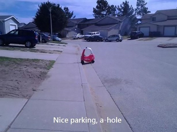 "Funny photo - ""Nice parking, a-hole"""