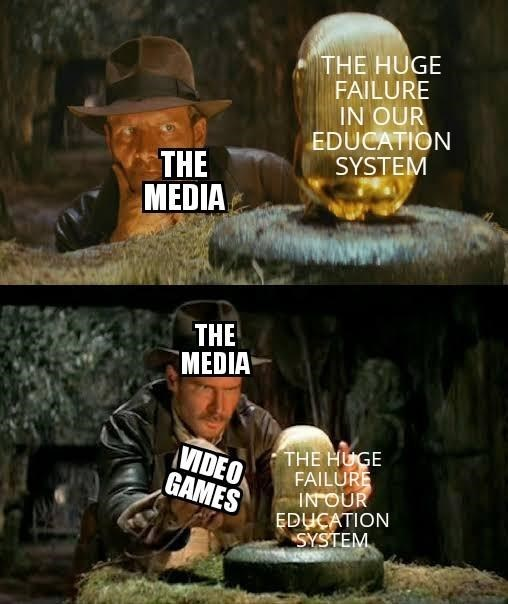 Photo caption - THE HUGE FAILURE IN OUR EDUCATION SYSTEM THE MEDIA THE MEDIA VIDEO GAMES THE HUGE FAILURE INOUR EDUCATION SYSTEM