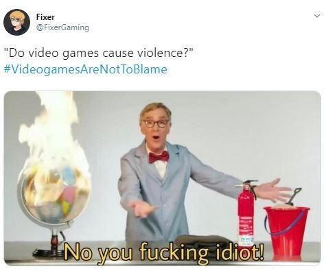 """Presentation - Fixer @FixerGaming """"Do video games cause violence?"""" #VideogamesAreNotToBlame No you fucking idiot!"""