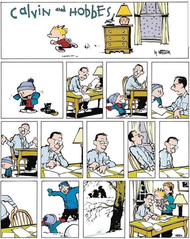 wholesome webcomic - Cartoon - calviN HobbES,