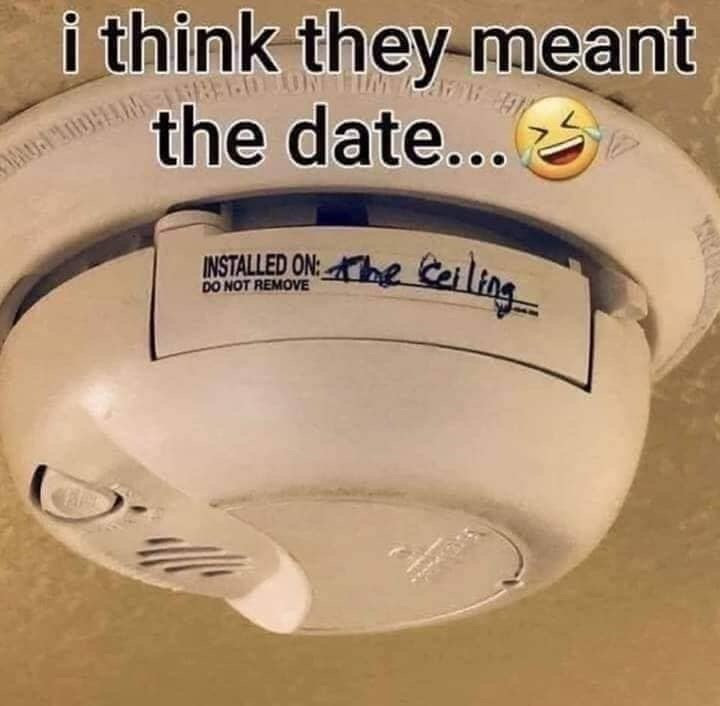 Ceiling - i think they-meant the date... INSTALLED ON:e Ceiling