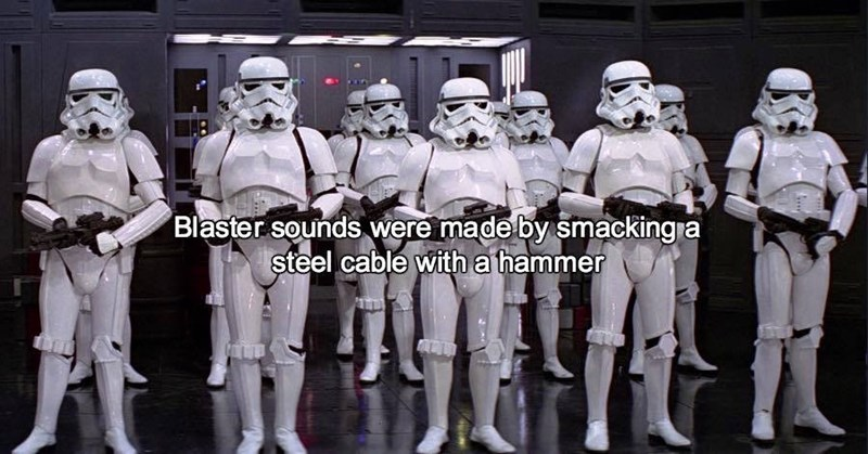 Team - Blaster sounds were made by smacking a steel cable with a hammer