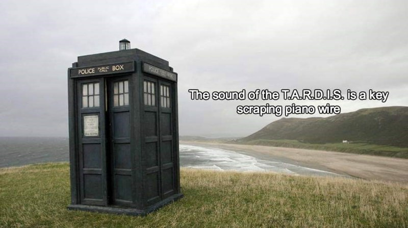 sound effects - Telephone booth - FOLIKE K BOX POLICE The sound of the TARD.LS. is a key scraping piano wire