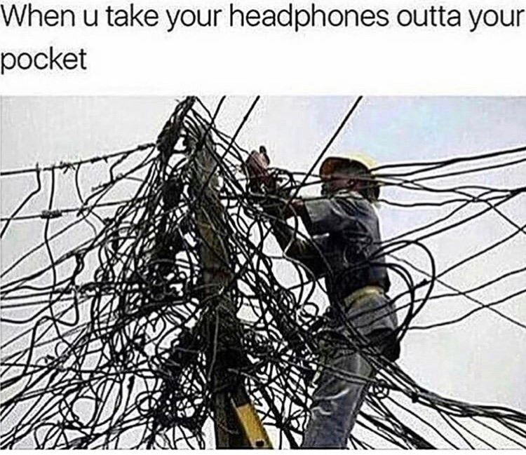 Wire - When u take your headphones outta your pocket